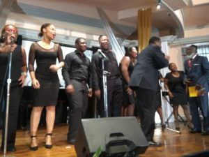ANTHEA McGIBBON PHOTOS: 2017 Musgrave Medals Awards Ceremony held at the Lecture Hall, Institute of Jamaica on May 25th, 2017. Nexxus Performing Arts Centre representatives entertain with a medley of songs by Freddie McGregor and he joins them on stage.