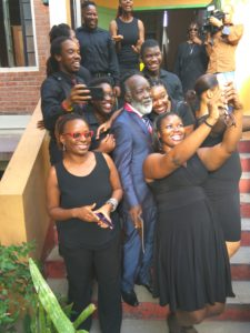 ANTHEA McGIBBON PHOTOS: 2017 Musgrave Medals Awards Ceremony held at the Lecture Hall, Institute of Jamaica on May 25th, 2017. Time out for a selfie by Nexxus performers with Freddie McGregor (centre).