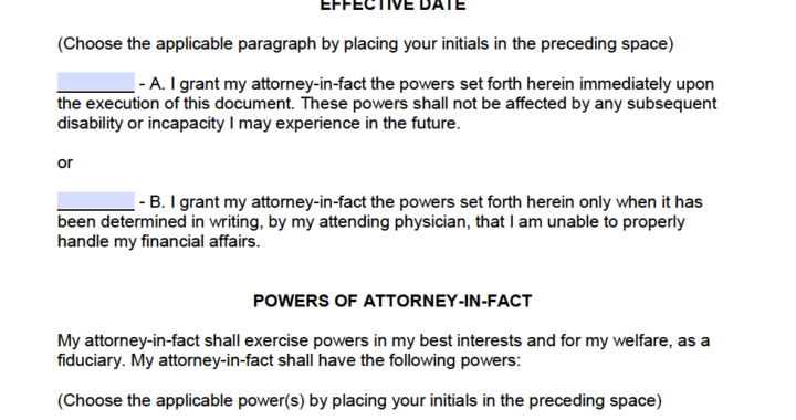 Sample Power Of Attorney document for use in Jamaica